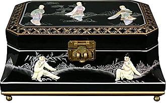 Oriental Furniture Adorlee Jewelry Box - Black