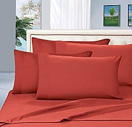 Elegant Comfort Luxurious Amazon 1500 Thread Count Hotel Quality Wrinkle,Fade and Stain Resistant 4-Piece Bed Sheet Set, Deep Pocket, Full, Rust