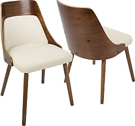 LumiSource Anabelle Mid Century Modern Dining Chair Cream   CH ANBEL WL+CR