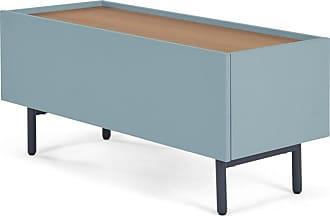 com made essentials mino lowboard eiche und blaugruen
