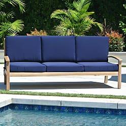 Willow Creek Designs Outdoor Willow Creek Designs Huntington Teak Sofa with Sunbrella Cushion Canvas Heather Beige - WC-10-5422