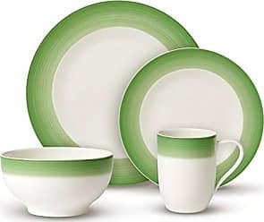 Villeroy & Boch Colorful Life Green Apple Dinner Set by Villeroy & Boch - Premium Porcelain - Made in Germany - Dishwasher and Microwave Safe - Serves 2