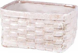 Privilege International 66659 Wide Ceramic Weave Basket