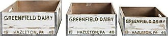 Creative Co-op Set of 3 Greenfield Dairy Boxes