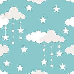 Lar Adesivos Papel De Parede Bebê Infantil Nuvem Chuva Nuvens Teen N4316