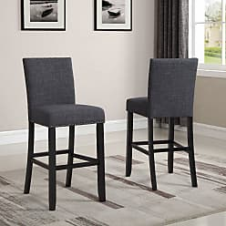 Round Hill Furniture Biony 30 in. Bar Stool - Set of 2 Blue - PC164BU