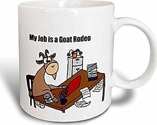 3D Rose mug_196082_3 My Job Is a Goat Rodeo Cartoon Magic Transforming Mug, 11-Ounce