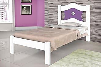 J&A Moveis Cama sevilha solteiro branca lilás J&A Moveis