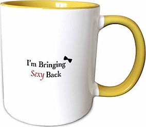 3D Rose 113583_8 Im Bringing Sexy Back Two Tone Ceramic mug Yellow/White