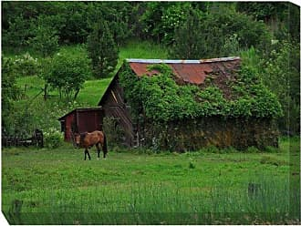 West of the Wind All-Weather Art Print, 30 by 40-Inch, Mossy Barn