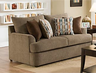 United Furniture Grandstand Walnut Loveseat - 8540BR-02 GRAND WALNUT