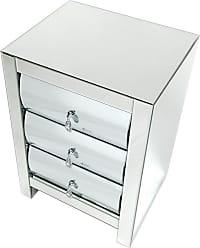 Wayborn Mirrored 3 Drawer Side Table - MC203