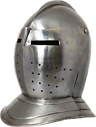 Urban Designs Imported Antique Replica Renaissance-Era Burgonet Cavalry Armor Helmet Silver