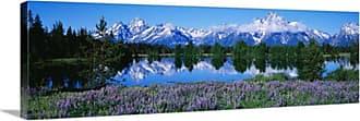 Great Big Canvas Teton Range Grand Teton National Park Wyoming Canvas Wall Art - 32861_24_36X12_NONE