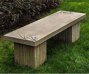 Campania International Outdoor Campania International Sagano Cast Stone Backless Garden Bench French Limestone - BE-128-FL