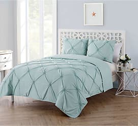 VCNY Solid Technique Quilt Set by VCNY Blue, Size: King - F04-3QT-KING-IN-AQ