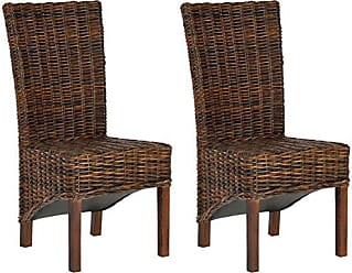 Safavieh FOX6523A-SET2 Home Collection Ridge Croco Color Dining Chair, Set of 2