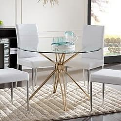 34a6caaaac876 Silver Orchid Alan Silver Metal and Glass Contemporary Dining Table (Gold)