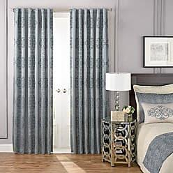 Ellery Homestyles Beautyrest Blackout Curtains for Bedroom - La Salle 52 x 108 Insulated Darkening Single Panel Rod Pocket Window Treatment, Smokey Blue
