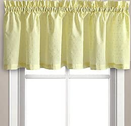 United Curtain Dorothy Window Curtain Swiss Dot VALANCE, 54 by 14, Yellow