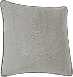 Ellery Homestyles Historic Charleston 13995020X020GRE King Charles Matelasse 20-Inch by 20-Inch Decorative Pillow, Grey