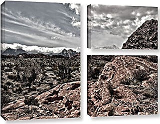 ArtWall 3 Piece Mark Rosss Fingertip Afternoon Gallery Wrapped Canvas Flag Set, 36 x 48