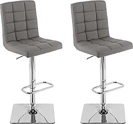 CorLiving DPU-604-B Adjustable Barstools Medium Grey