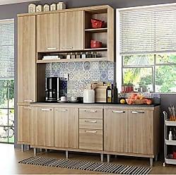 Multimóveis Cozinha Completa com Balcão com Tampo 5 Peças 8 Portas Sicília Multimóveis Argila