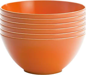 Zak designs 0550-9412-ISET Ella Soup Bowls, Set, Hex Orange