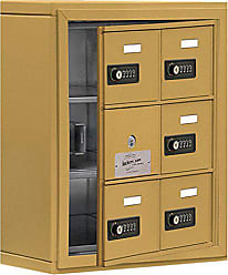 Salsbury Industries 19135-06GSC Cell Phone-Access Panel-3 Unit Surface Mounted-Resettable Combo Locks with 5-Inch Diameter Compartments, Gold