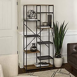 Walker Edison WE Furniture AZS68STRRO Bookshelf, 68, Rustic Oak