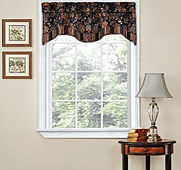Ellery Homestyles Traditions By Waverly 14312052016OYX Navarra Floral Window Valance, 52 x 16, Onyx