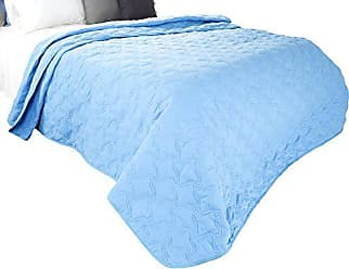 Trademark Global Solid Color Quilt by Bedford Home Full/Queen - Blue