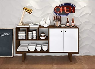 Estilare Aparador Buffet Bar 2 Portas de Abrir BR57 Zeke - Branco