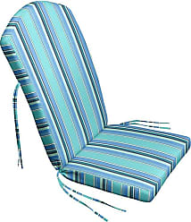 Cushion Source Sunbrella Striped 47 x 21 in. Adirondack Chair Cushion Foster Surfside - IAUHW-56049