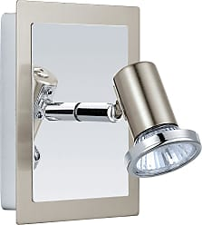 Eglo Rottelo Wall Light in Satin Nickel and Chrome