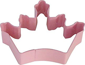 CybrTrayd R&M Crown Coronation Pink 3.5 Cookie Cutter With Colored, Durable, Baked-on Polyresin Finish