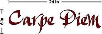 The Decal Guru Carpe Diem Wall Decal (Burgundy, 6 (H) X 24 (W))