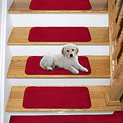 Ottomanson Comfort Collection Stair Tread, 7 Pack, Red