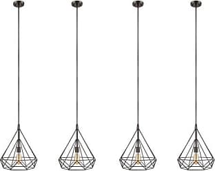 Philips Gabbia 13 Inch Dimmable Suspension Pendant Light, Oiled Bronze (4 Pack)