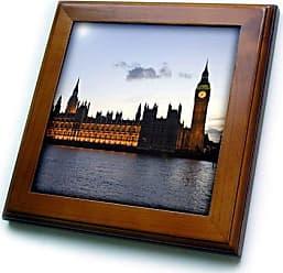 3D Rose 3dRose ft_82742_1 Big Ben, Houses of Parliament, London, England-Eu33 Dfr0097-David R. Frazier-Framed Tile, 8 by 8-Inch