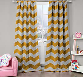 Duck River Textile Duck River Textile Fifika Chevron Insulated Blackout Room Darkening Window Curtain Set of 2 Panels, 39 X 84, Yellow