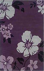Linon Linon RUG-TATO0257 Trio with A Twist Eggplant & Off-White 5 x 7, Eggplant
