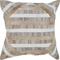 L.R. Resources Inc. L.R. Resources Homestead Longhorn Stripe Indoor Throw Pillow, 20 x 20, Brown/Beige