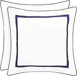 Five Queens Court Brenda 100% Cotton Framed Euro Sham, White