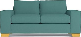 Apt2B Melrose Twin Size Sleeper Sofa - Leg Finish: Natural - Sleeper Option: Deluxe Innerspring Mattress - Teal Poly Blend - Sold by Apt2B - Modern Cou