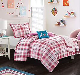 Chic Home Jenna 5 Piece Comforter Set Stitched Patchwork Plaid Animal Theme Youth Design Bedding - Throw Blanket Decorative Pillow Shams Included Full