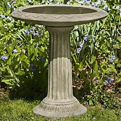 Campania International Cottage Garden Cast Stone Bird Bath Ferro Rustico Nuovo - B-135-FN