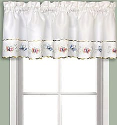 United Curtain Butterfly Embroidered Valance, 52 x 14, Multi