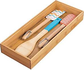 InterDesign Formbu Stackable Drawer Organizer Box-Bamboo, 6 x 15 x 2 6 x 15 x 2